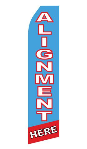 Body Shop Alignment Service Swooper Flag