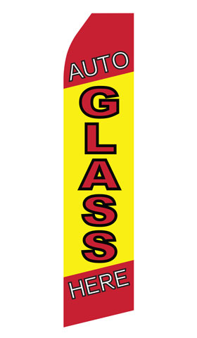 Auto Glass Service Swooper Flag