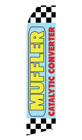 Muffler Catalytic Converter Swooper Flag