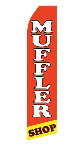 Muffler Shop Swooper Flag