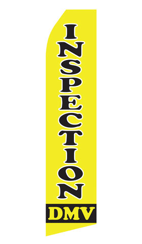DMV Inspection Swooper Flag