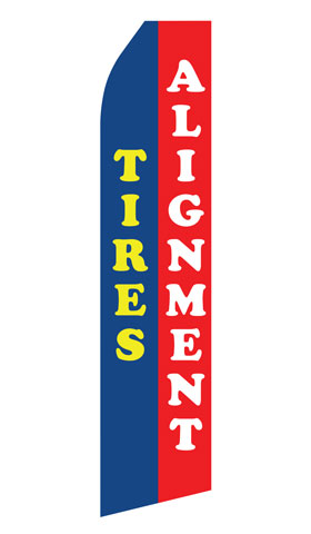 Tires Alignment Swooper Flag