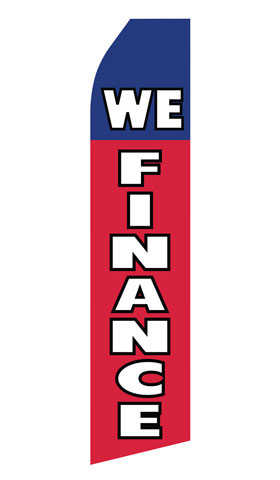 We Finance Swooper Flag