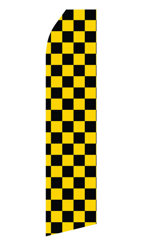 Black and Yellowed Checkered Swooper Flag
