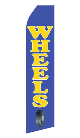 Wheels Service Swooper Flag