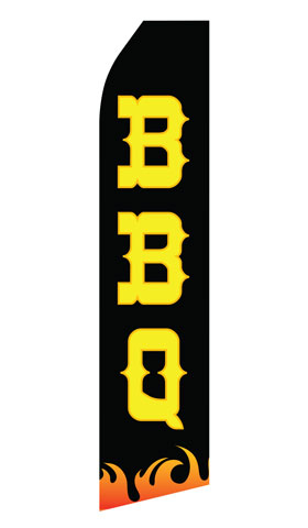 Black BBQ Swooper Flag