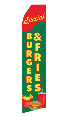 Burger and Fries Special Swooper Flag