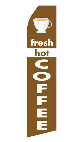 Fresh Hot Coffee Swooper Flag
