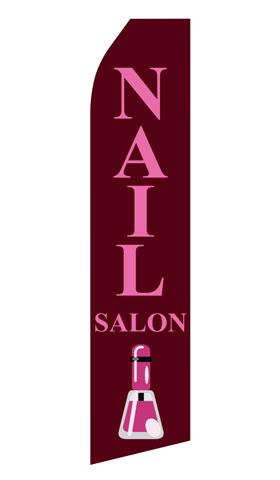 Nail Salon Swooper Flag