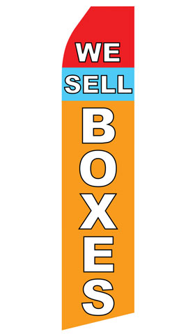 We Sell Boxes Swooper Flag