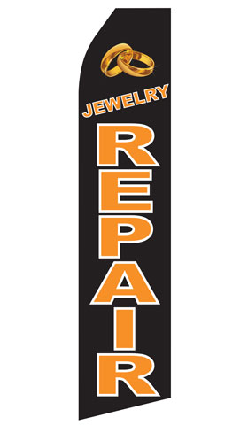 Jewelry Repair Swooper Flag