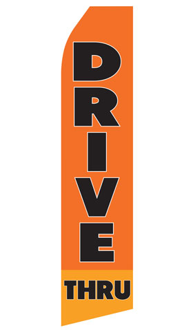 Drive Thru Swooper Flag