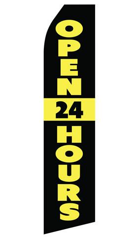 Open 24 Hours Swooper Flag