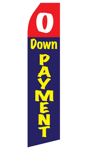 No Down Payment Swooper Flag