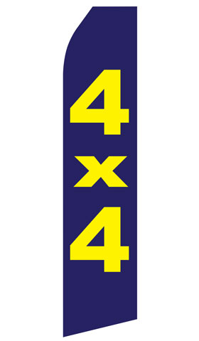 4X4 Swooper Flag