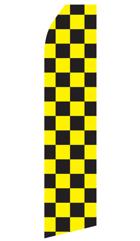 Black and Yellow Checkered Swooper Flag