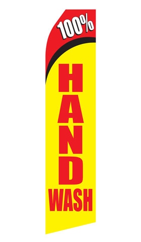 100% Hand Wash Swooper Flag
