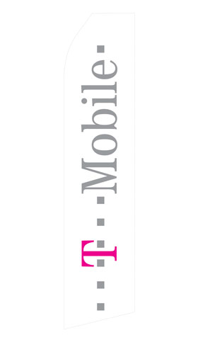 White T-Mobile Logo Swooper Flag