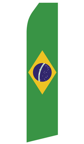 Brazilian Flag Swooper Flag
