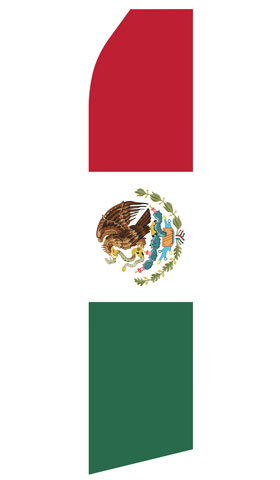 Mexican Flag Swooper Flag