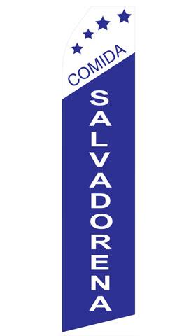 Comida Salvadorena Swooper Flag