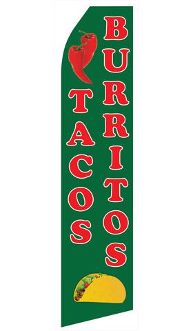 Tacos and Burritos Swooper Flag