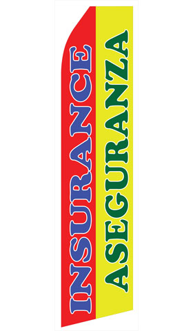Insurance Aseguranza Swooper Flag