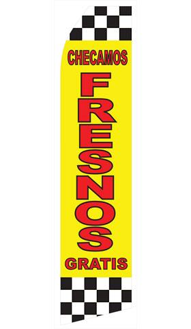 Checamos Fresnos Gratis Swooper Flag