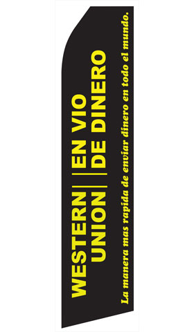 Western Union En Vio De Dinero Swooper Flag