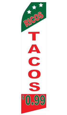 Ricos Tacos Swooper Flag