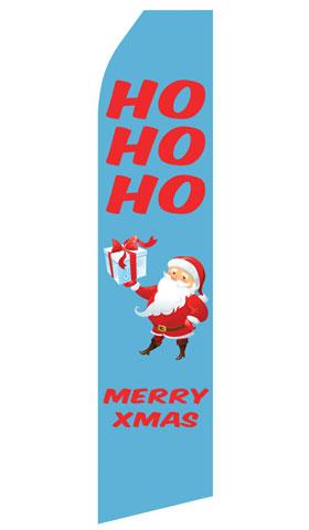 HOHOHO Merry Xmas Swooper Flag