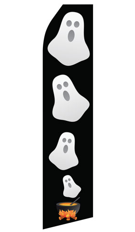 Halloween Ghost Swooper Flag