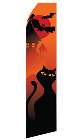 Halloween Cat Swooper Flag