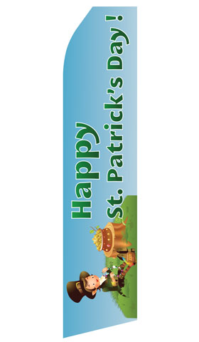 Happy St. Patricks Day Swooper Flag