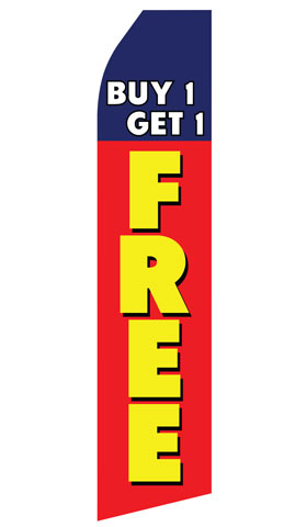 Buy One Get One Free Swooper Flag