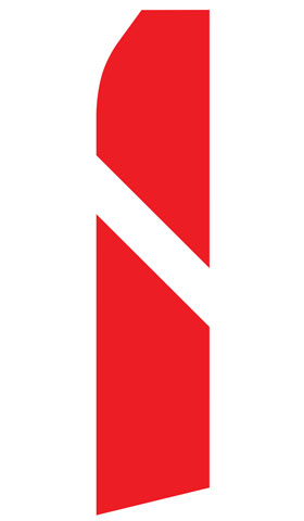 Red and White Stripe Swooper Flag