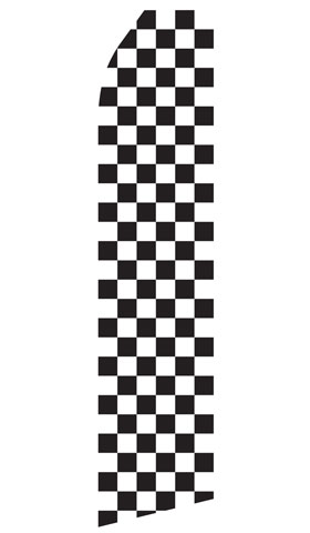 Black and White Checkered Swooper Flag