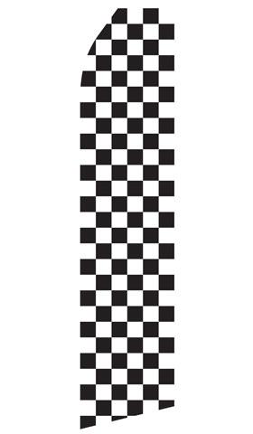 Black and White Checkered Swooper Flag