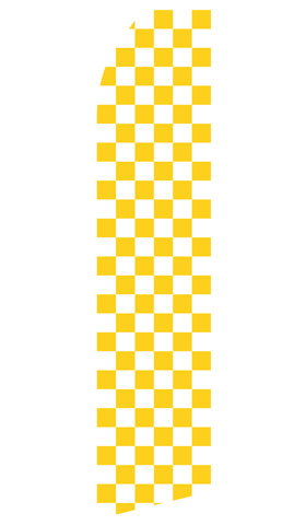 Yellow and White Checkered Swooper Flag