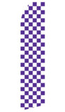 Purple and White Checkered Swooper Flag