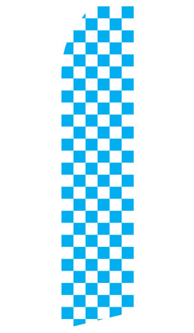 Blue and White Checkered Swooper Flag