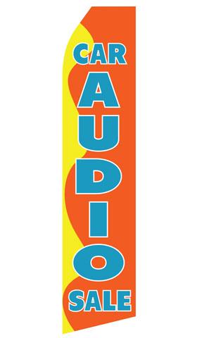 Car Audio Sale Swooper Flag