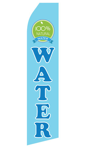 100% Natural Water Swooper Flag