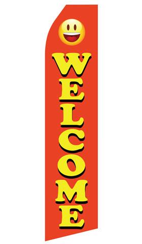 Orange Welcome Swooper Flag