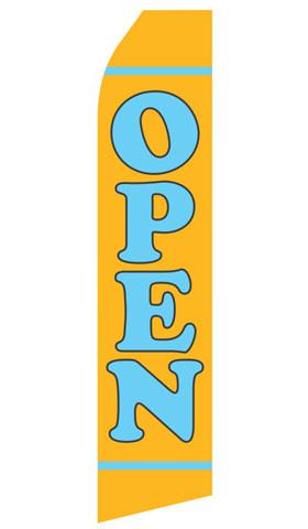 Yellow Open Swooper Flag
