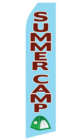 Summer Camp Swooper Flag