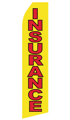 Yellow Insurance Swooper Flag