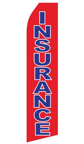 Red Insurance Swooper Flag