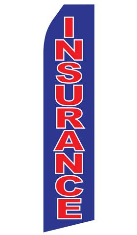 Blue Insurance Swooper Flag