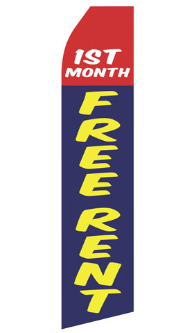First Month Free Rent Swooper Flag